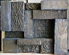 Paul Evans Paul Evans Sculpted Bronze Resin Brutalist Wall Sculpture Circa 1970 - 1750775