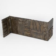 Paul Evans Paul Evans Sculpted Metal rectangular coffee table 1970 - 1131424