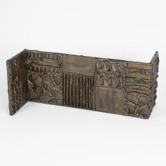 Paul Evans Paul Evans Sculpted Metal rectangular coffee table 1970 - 1131430