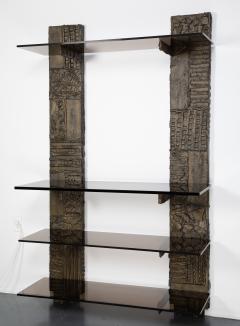 Paul Evans Paul Evans Sculpted Metal shelving unit 1974 - 1151871