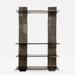 Paul Evans Paul Evans Sculpted Metal shelving unit 1974 - 1153384