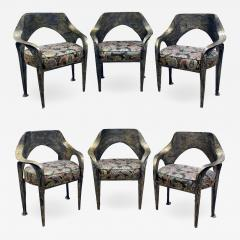 Paul Evans Paul Evans Set of 6 Rare and Important Dining Chairs 1969 signed  - 1060592