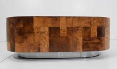 Paul Evans Paul Evans Signed Patchwork Cityscape Burl Wood Cocktail Table - 1467155