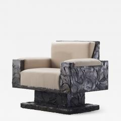 Paul Evans Paul Evans Studio Sculpted Bronze Armchair - 538433