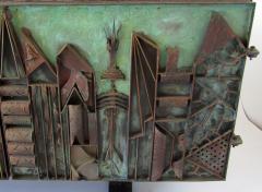 Paul Evans Rare American Modern Steel Sculpted Vermont Slate Credenza Unique Paul Evans - 1306512