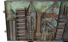 Paul Evans Rare American Modern Steel Sculpted Vermont Slate Credenza Unique Paul Evans - 1306515