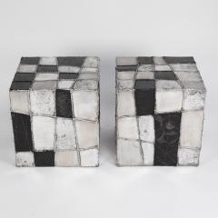 Paul Evans Rare Pair of Paul Evans Argente Side Tables Circa 1960s - 1063705