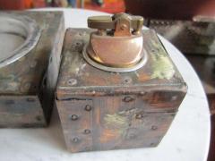 Paul Evans Rare Set of Signed Paul Evans Desk Accessories Lighter Mid century Modern - 1877337