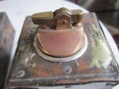 Paul Evans Rare Set of Signed Paul Evans Desk Accessories Lighter Mid century Modern - 1877355