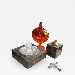 Paul Evans Rare Set of Signed Paul Evans Desk Accessories Lighter Mid century Modern - 1879886