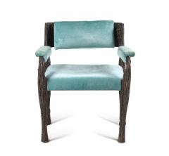 Paul Evans Rare sculpted bronze armchair by Paul Evans for Directional - 1723354