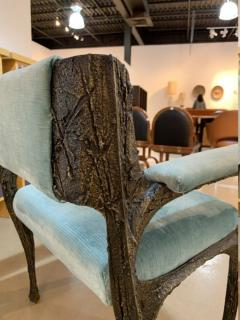 Paul Evans Rare sculpted bronze armchair by Paul Evans for Directional - 1723364