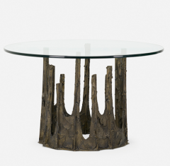 Paul Evans SCULPTED AND PATINATED BRONZE STALAGMITE CIRCULAR DINING TABLE BY PAUL EVANS - 2169163