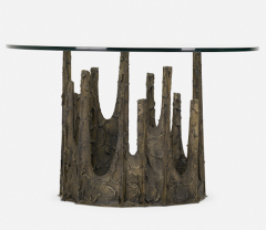 Paul Evans SCULPTED AND PATINATED BRONZE STALAGMITE CIRCULAR DINING TABLE BY PAUL EVANS - 2169169