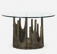 Paul Evans SCULPTED AND PATINATED BRONZE STALAGMITE CIRCULAR DINING TABLE BY PAUL EVANS - 2169170