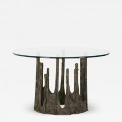 Paul Evans SCULPTED AND PATINATED BRONZE STALAGMITE CIRCULAR DINING TABLE BY PAUL EVANS - 2170780