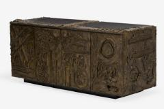 Paul Evans Sculped and Patinated Bronze Credenza by Paul Evans for Directional - 1387585