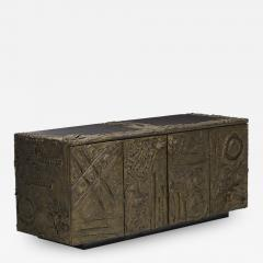 Paul Evans Sculped and Patinated Bronze Credenza by Paul Evans for Directional - 1388349