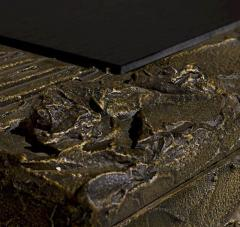 Paul Evans Sculped and patinated bronze cabinet by Paul Evans for Directional - 1387581
