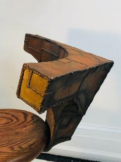 Paul Evans Sculpted Mixed Metal Chair in the Manner of Paul Evans - 1143135