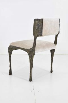 Paul Evans Set of Six Paul Evans Brutalist Sculpted Bronze and Resin Dining Chairs 1972 - 1133044