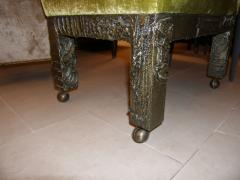 Paul Evans Set of Six Signed Paul Evans Sculpted Bronze Dining Chairs - 35507