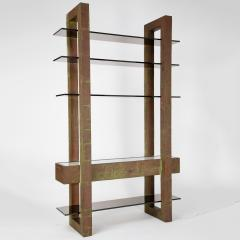 Paul Evans Unique Paul Evans copper patchwork shelving unit circa 1968 - 1151802