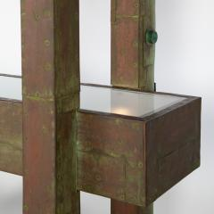 Paul Evans Unique Paul Evans copper patchwork shelving unit circa 1968 - 1151805