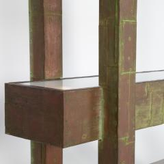 Paul Evans Unique Paul Evans copper patchwork shelving unit circa 1968 - 1151809