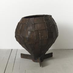 Paul Evans Welded Patchwork Steel Urn USA c 1970 s - 112745