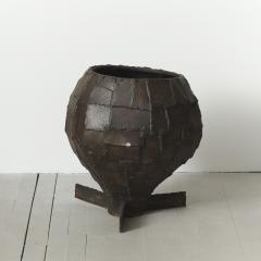 Paul Evans Welded Patchwork Steel Urn USA c 1970 s - 112746
