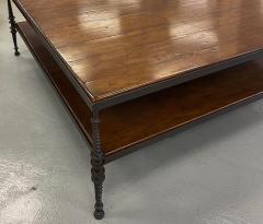 Paul Ferrante Huge Paul Ferrante Wrought Iron Walnut Square Coffee Table - 2029702