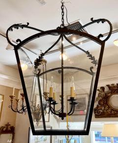 Paul Ferrante Huge Spanish Colonial Wrought Iron Lantern Chandelier - 2067875