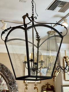 Paul Ferrante Huge Spanish Colonial Wrought Iron Lantern Chandelier - 2067884