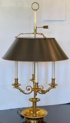 Paul Ferrante Large Paul Ferrante French Gilt Bronze Four Light Bouillotte Griffin Table Lamp - 2029687