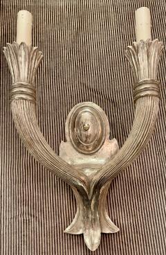 Paul Ferrante Paul Ferrante Art Deco Giltwood 2 Arm Wall Light Sconces a Pair - 2067892