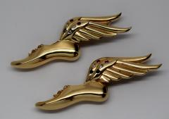Paul Flato Pair of Winged Shoes Brooches - 299845
