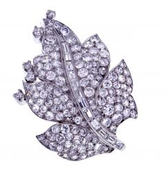 Paul Flato Paul Flato Diamond Leaf Brooch - 756253