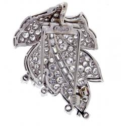 Paul Flato Paul Flato Diamond Leaf Brooch - 756258