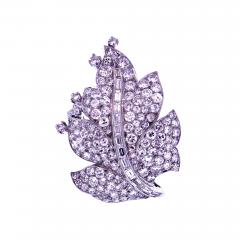 Paul Flato Paul Flato Diamond Leaf Brooch - 756743