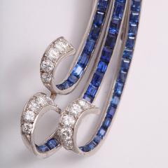 Paul Flato Sapphire and Diamond Waterfall Brooch by Paul Flato - 117910