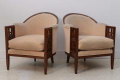 Paul Follot Fine Pair of French Art Deco Mahogany Chairs Paul Follot - 358243
