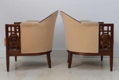 Paul Follot Fine Pair of French Art Deco Mahogany Chairs Paul Follot - 358245