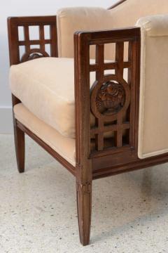 Paul Follot Fine Pair of French Art Deco Mahogany Chairs Paul Follot - 358246