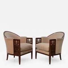 Paul Follot Fine Pair of French Art Deco Mahogany Chairs Paul Follot - 365709