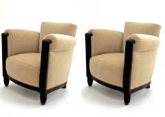 Paul Follot Paul Follot pair of comfy club chair newly covered in mohair - 983116