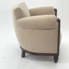 Paul Follot Paul Follot pair of comfy club chair newly covered in mohair - 983117