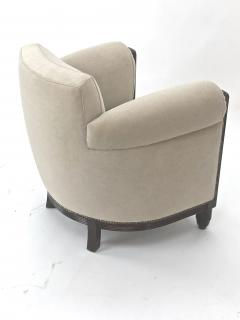 Paul Follot Paul Follot pair of comfy club chair newly covered in mohair - 983298