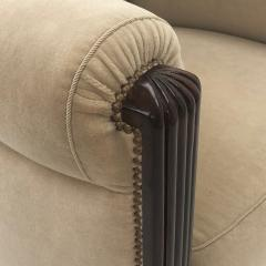 Paul Follot Paul Follot pair of comfy club chair newly covered in mohair - 983299