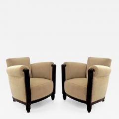 Paul Follot Paul Follot pair of comfy club chair newly covered in mohair - 984718